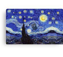 'A Starry Night Van Gogh Mountain Inspiration With Tardis' by Angelinas Tardis, Van Gogh, Canvas Prints, Night, Artwork, Inspiration, Products, Biblical Inspiration, Work Of Art
