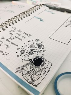 Space/Galaxy Theme Bullet Journal Weekly Spread by Cut&PasteBUJO