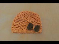 Ako uháčkovať čiapku Puff Stitch - veľkosť pre dospelých - YouTube