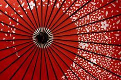 Japanese parasol in red