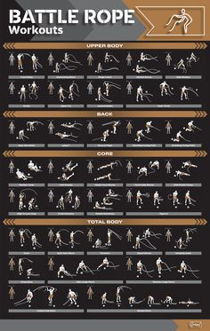 All Body Workout, Gym Workout Chart, Gym Workout Tips, At Home Workout Plan, Workout Equipment, Home Gym Exercises, Fitness Exercises, Rope Exercises, Floor Exercises
