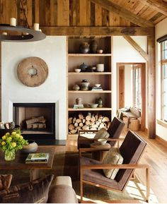 Love this mountain ranch living space with earthly tones. Diamond O Albers Ranch: design by Kylee Shintaffer Love this mountain ranch living space with earthly tones. Diamond O Albers Ranch: design by Kylee Shintaffer Living Room Designs, Living Room Decor, Living Spaces, Style At Home, Rustic Home Interiors, Home Fashion, Home And Living, Cozy Living, Family Room