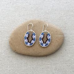 Beadwork Earrings - Scallop Shapes using Brick Stitch: Lisa Yang's Jewelry Blog