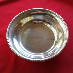 Vintage Fisher Silverplate Electroplated Copper Candy Nut Bon Bon Dish / Bowl  #Fisher