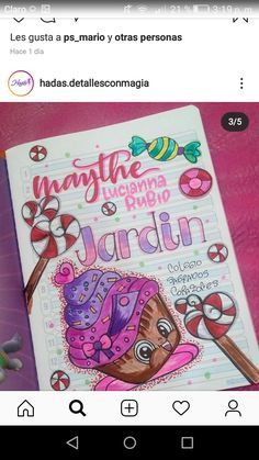Classroom Art Projects, Art Classroom, Kawaii Doodles, Beautiful Fonts, School Notes, Notebook, Lettering, Stickers, Drawings