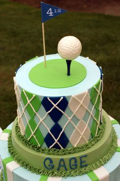 Incredible golf cake! #golf #cake