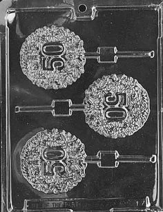 50TH LOLLY Sucker Chocolate Candy Mold Soap LPL017 by Preegle, $2.19
