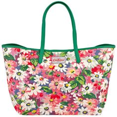 Painted Daisy Large Leather Trim Tote Cath Kidston Bags, Daisy Painting, Handbags, Tote Bag, Leather, Gifts, Accessories, Shopping, Totes
