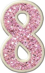 """Photo from album """"Glamour Starlet"""" on Yandex. Glitter Letters, Floral Letters, Monogram Alphabet, Alphabet And Numbers, Polly Pocket, Bolo Glamour, Princesa Ariel Disney, Cupcake Toppers Free, Happy 8th Birthday"""
