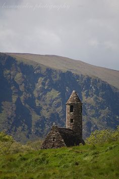 Glendalough, County Wicklow, Ireland. This area, whose name means valley of two lakes, is home to one of the oldest monasteries in Ireland, as well as two beautiful lakes and a few other sites of historical interest (most of which are connected with the monastery). It is a great place to go see if you're in Dublin as it is quite close by.