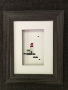 Comes framed in 6 by 8 frame with mat and glass