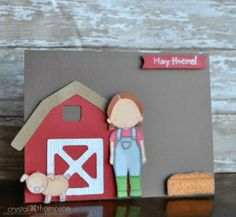 Farm girl card
