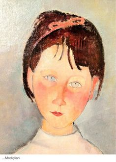 Amadeo Modigliani, little girl in blue, 1918 (detail) Amedeo Modigliani, Italian Painters, Italian Artist, Kunst Online, Famous Artists, Face Art, Oeuvre D'art, Art History, Painting & Drawing