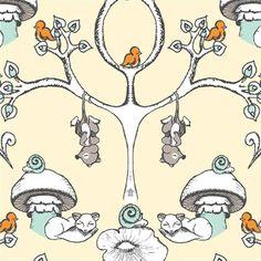 Forest Wallpaper by Birch Fabrics  1/2 yard by OurDesignerShop, $6.00