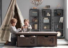 Rafa-kids : Industrial storage ideas for childrens room