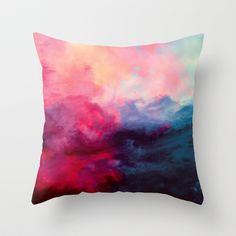 Reassurance Throw Pillow - mixing in color for spring.