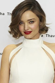 Miranda Kerr with bob hairstyle