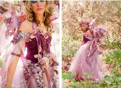 Tricia Fountaine is a wedding & event planner & owner of VINTAGE VIGNETTES, a vintage & bohemian prop rental company in Santa Barbara, CA Faerie Costume, Fairy Costumes, Woodland Fairy Costume, Olaf Costume, Godmother Dress, Fairy Photoshoot, Fantasy Dress, Fantasy Hair, Fantasy Makeup
