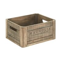 Wood Crate with Magnolia Logo from fixer upper joanna gaines