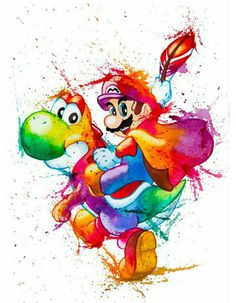Watercolors: Mario & Yoshie