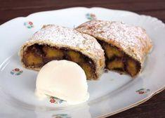 Broskyňovo čokoládová štrúdľa, recept | Naničmama.sk Sweets, Bread, Food, Sweet Pastries, Goodies, Essen, Breads, Baking, Candy
