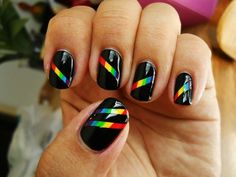 rainbow nails #diy
