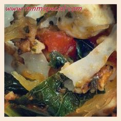 Turkey, Kale & Tomato Sauce over Spaghetti Squash Recipe - MnMSpecial