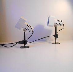 #1970s #industrial #walllamps #danishmodern  http://www.ebay.com/itm/A-pair-of-1970s-white-industrial-wall-lamps-danish-space-age-Ditzel-Panton-era-/261818568700?