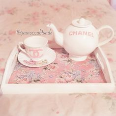 DIY Chanel teapot & teacup Instagram:@princessablonde