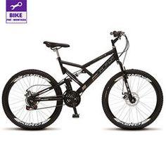Bicicleta Colli Aro 26 Dupla Suspensão Freios á Disco - Preto