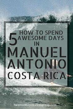 One of the main draws of Manuel Antonio and of Costa Rica in general, is the wide variety of activities, landscapes, climates and wildlife on offer. There are high altitude mountains draped in clouds, active volcanoes and hot springs, arid deserts and intense rain forests and jungles. You can hike up to a waterfall today, go sport fishing tomorrow and SCUBA dive the day after that! The number of adventure activities here will blow your mind and you can easily fill every day with something.