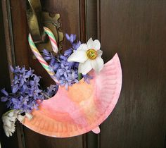 May Day umbrella craft. The residents would love this...especially since there is an edible component!