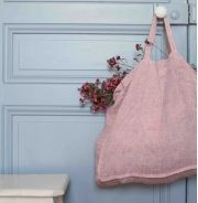 Cabas XL en lin lavé rayé rouge & blanc - www.lereperedesbelettes.com