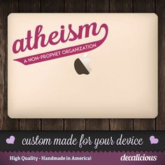 Atheism - A Non-Prophet Organization.  Vinyl Decal.  Atheism Decal, Atheist Decor, Atheist Art, Atheist Pride, Funny Decal. by decaliciouscom on Etsy