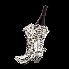 "Arthur Court  ""Cowboy Boot"" Pitcher/Wine Cooler  ShopMFT.com"