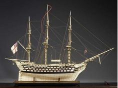 Awesome Models of Ships Were Made of Human and Animal Bones