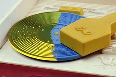 3d geprinte lp fisher price Jaren 70 Fisher Price platenspeler speelt platen uit de 3D printer