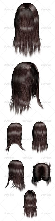 Female Hair 01 by mia3d 7 female hair 3D renders in high resolution transparentPNG 3000 ×3500