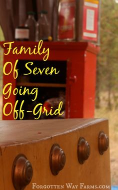 Family of Seven going off-grid: This blog tells their story of 5 years off grid and now they have baby #6 and have moved back to town to homestead in a new way.  Interesting, I want to browse this one later.
