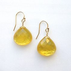 outstanding citrine and mother of pearl doublet briolettes