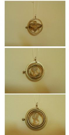 DIY Harry Potter time-turner necklace. Image from The Crafty Cauldron, with link to tutorial.