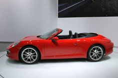 2012 Porsche 911 Cabriolet at the Detroit Auto Show