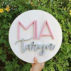 The Polymath Mom is the top of the line seller of Round Custom Wood Nursery Name Signs. We specialize in trendy custom nursery wall decor for your baby. Wood Nursery, Nursery Name, Nursery Signs, Nursery Room Decor, Girl Nursery, Nursery Ideas, Girl Room, Girls Bedroom, Bedroom Ideas