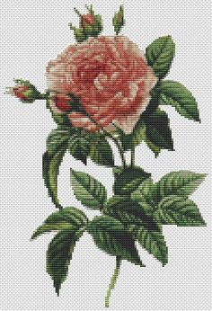 Counted Cross Stitch Pattern PDF includes a cover page, DMC Care Page, DMC material list, A4 sized b/w chart with bigger symbols, thread