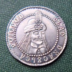 Silver Vlad tepes Dracula coin. .999 silver coin by ShirePostMint on Etsy https://www.etsy.com/listing/198207925/silver-vlad-tepes-dracula-coin-999