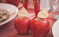 рассадочные карточки на яблоках