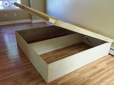 King Size Platform Bed with Storage – Kreg Owners' Community – Toptrendpin Build A Platform Bed, King Size Platform Bed, Platform Bed With Storage, Fold Up Wall Bed, Lift Storage Bed, Woodworking Bench Plans, Woodworking Videos, Youtube Woodworking, Woodworking Supplies