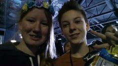 """BÆ HRHXJHSBSJXJAJXJC. I gave him some peach rings and he was like """" OMG THANK YOU!!"""" then gave me a hug and then we took this pic 1/17/16"""