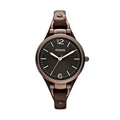 FOSSIL® Watch Styles Leather Watches:Watch Styles Georgia Leather Watch - Brown ES3200