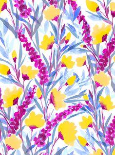 Flower Patterns, Print Patterns, Pattern Flower, Illustration Blume, Mandala, Watercolor Projects, Floral Prints, Art Prints, Surface Pattern Design